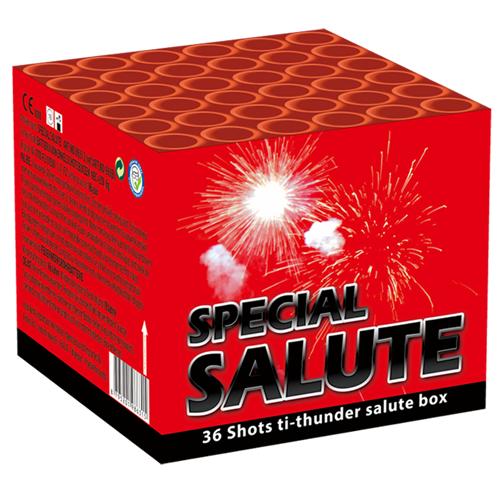VALK SPECIAL  SALUTE CAKE SALVO 36 SCHOTS ( NIEUW )
