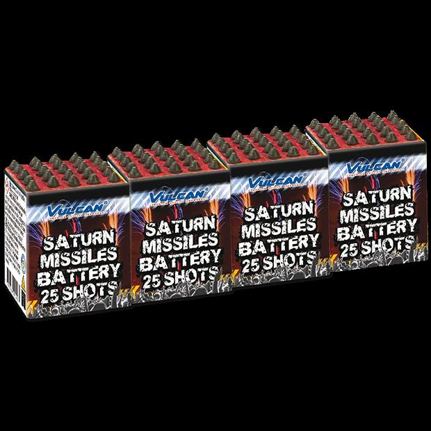 4x Raketbatterij 25 shots