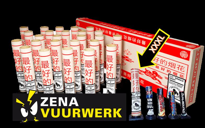 """* Single Shot 1.0"""" ZENA Vuurwerk"""