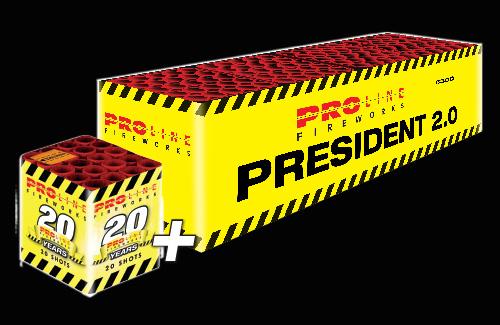 President 2.0 + 20 jaar Pro-Line cake