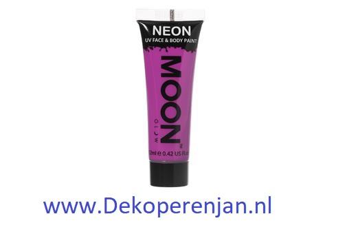 Neon UV face & body  paint purple