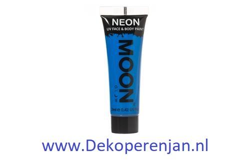 Neon UV face & body  paint blue