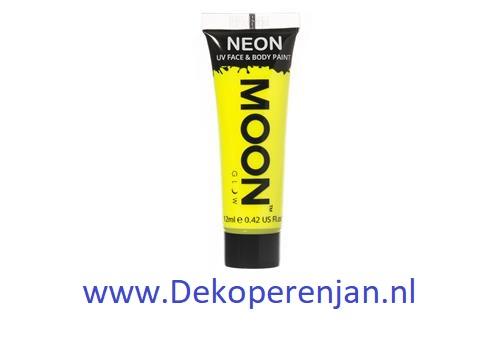 Neon UV face & body  paint geel
