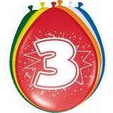 ballonnen 3 jaar 8 stuks
