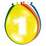 ballonnen 1 jaar 8 stuks
