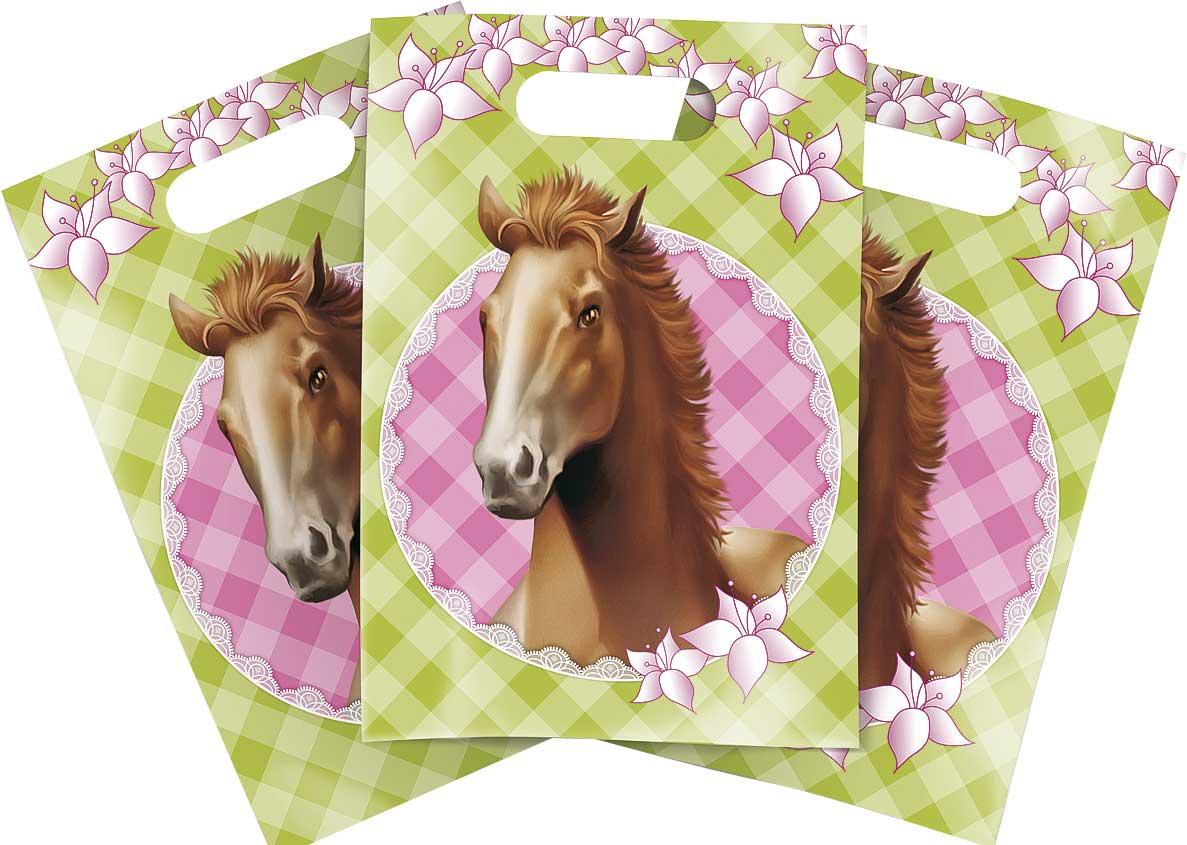 paarden uitdeelzakjes 6st