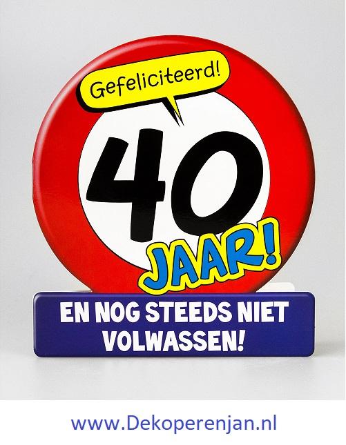 kaart 40 verkeersbord