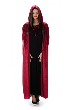 Red Hooded Cape (One Size)