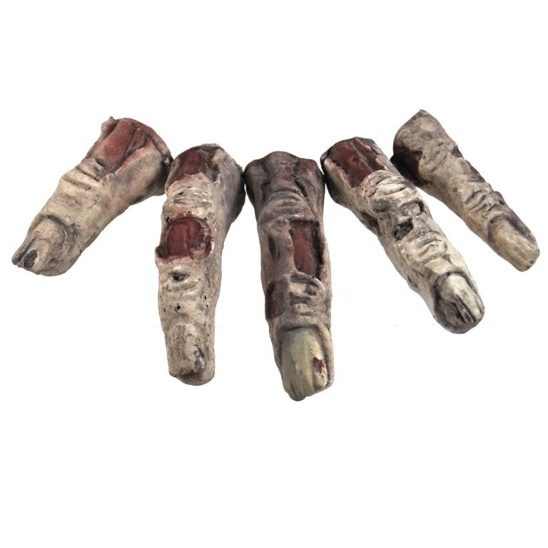 5 stuks afgehakte decoratie vingers in netje