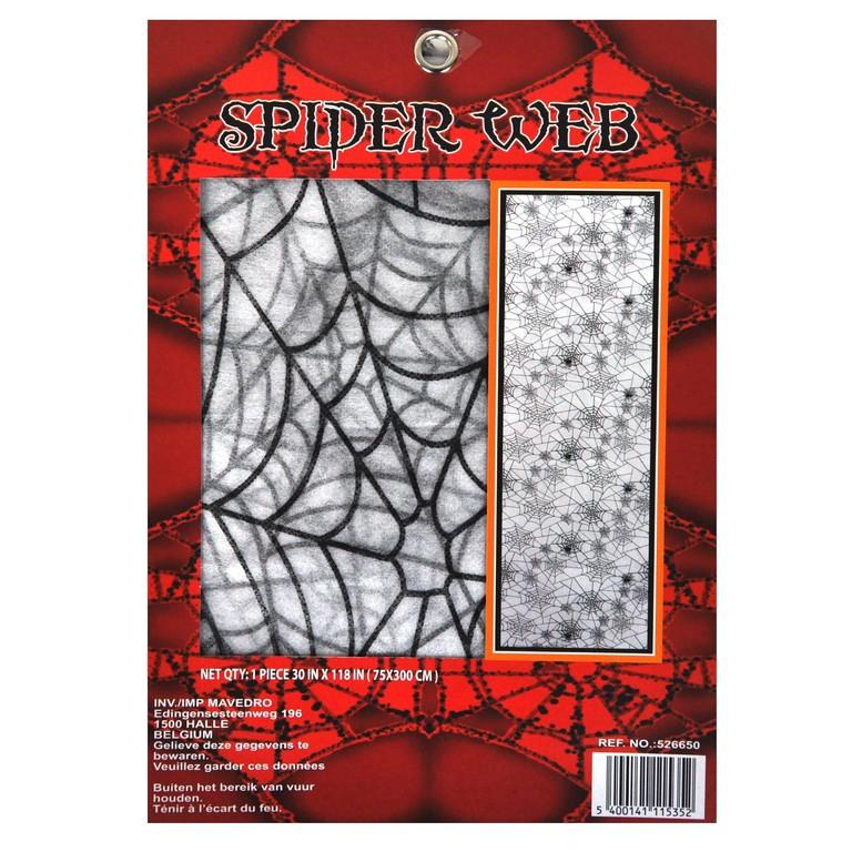 Decoratie kleed met spinnenweb motief 75 X 300 cm