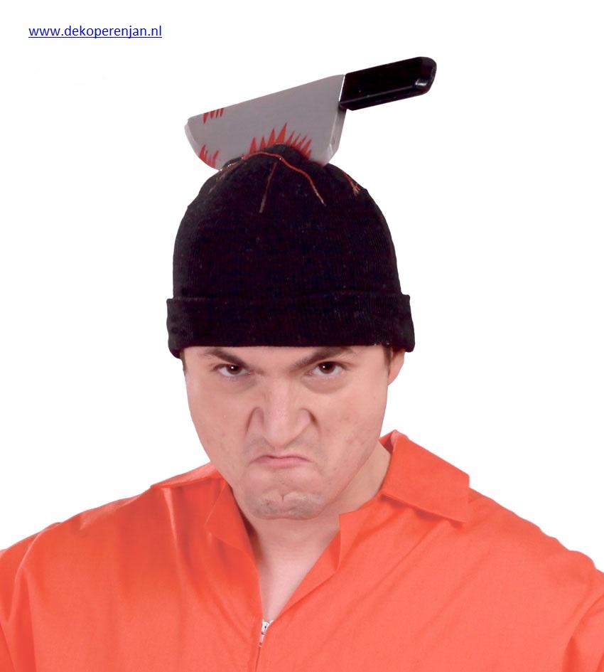mes in hoofd