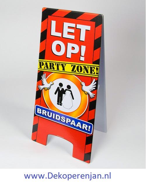 warning signs Bruidspaar