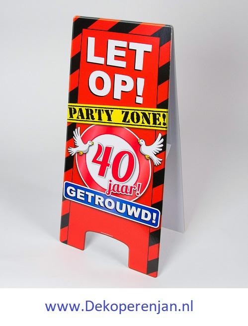 warning signs 40 Jaar Getrouwd