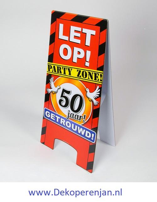 warning signs 50 Jaar Getrouwd