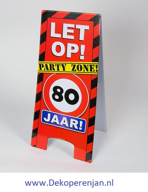 warning signs 80 Jaar