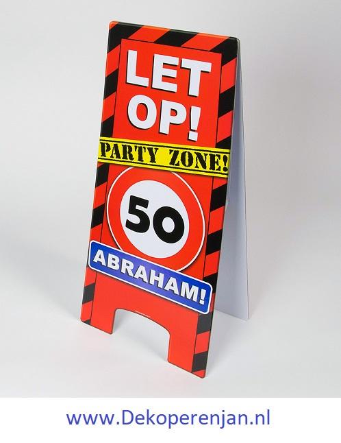 warning signs Abraham 50 jaar