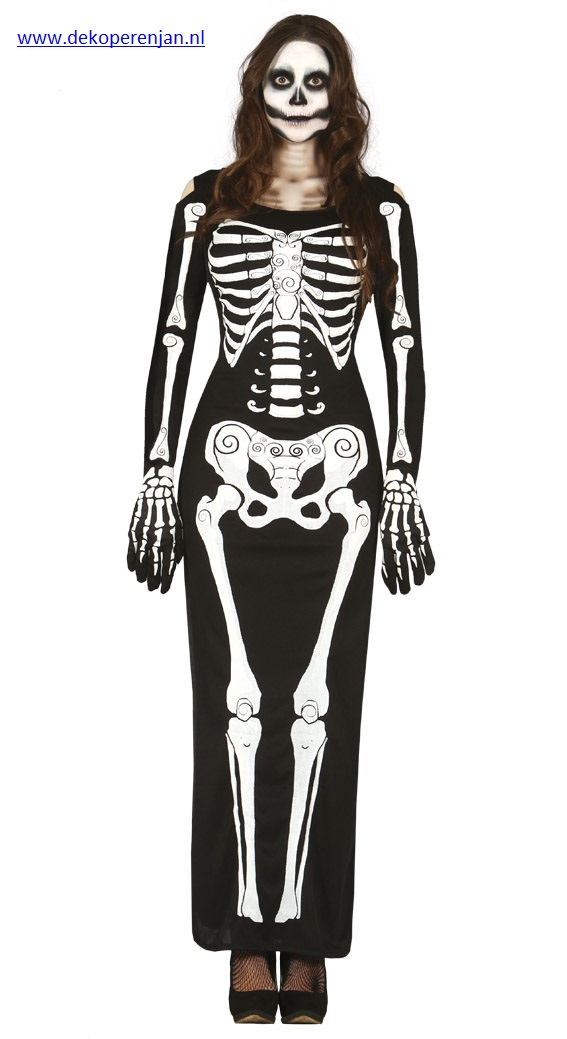Adult Lady Skeleton Maat L