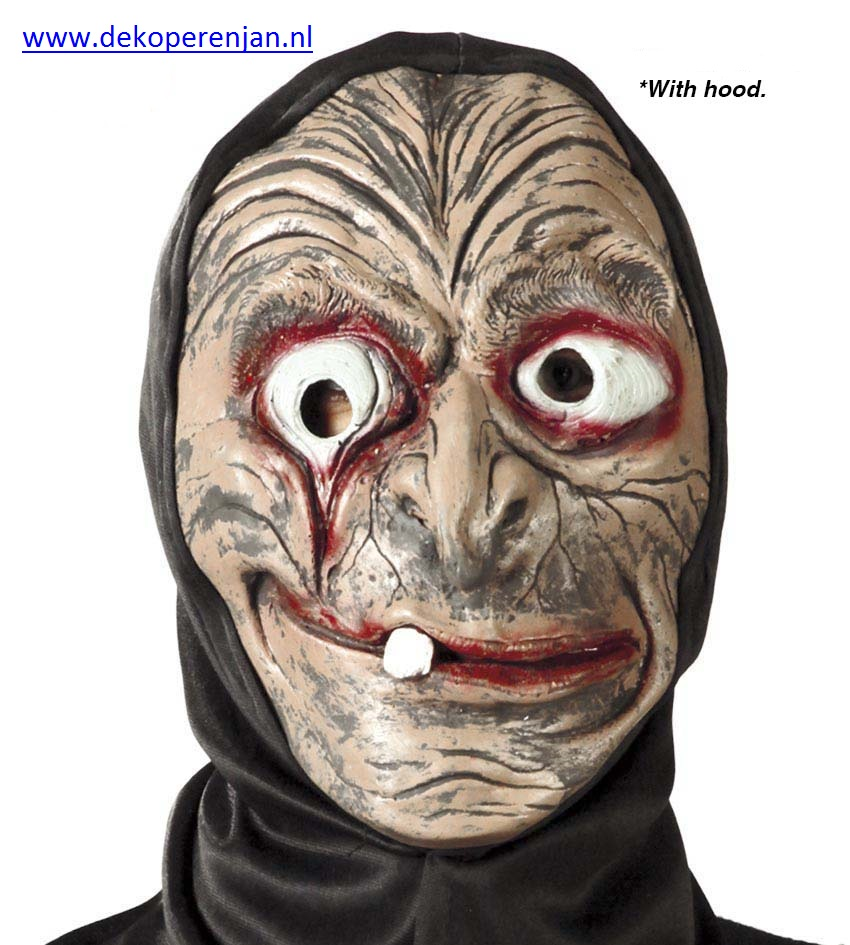 heksen masker met kap