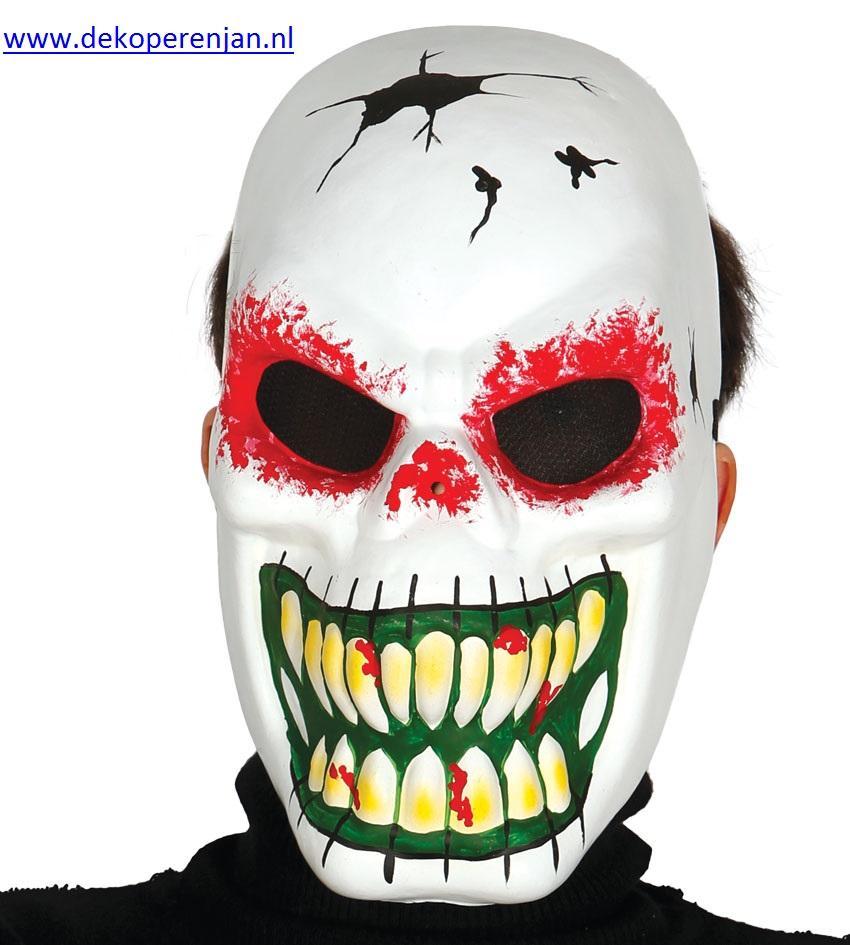 Wit skeleton masker