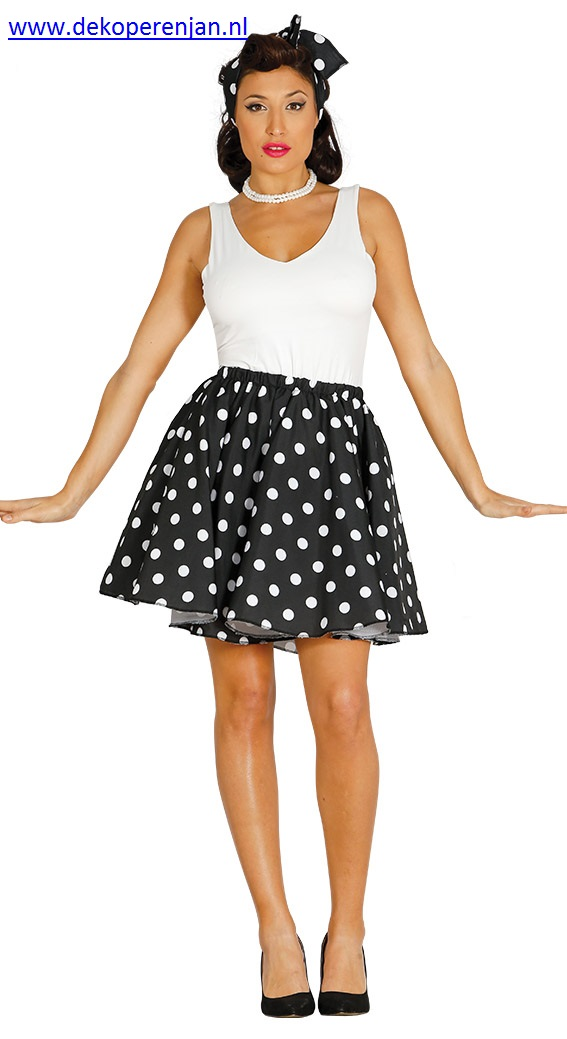 Pin up jurk zwart Maat 42 - 44