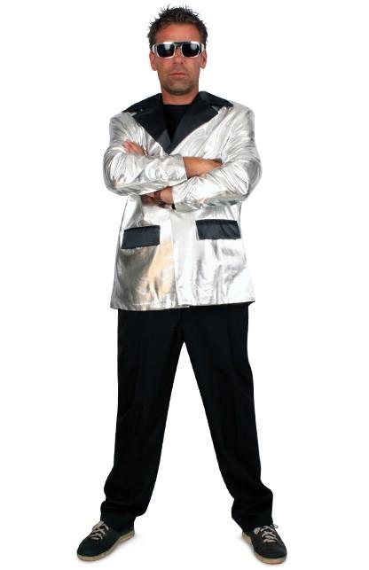 Smoking kostuum zilver Maat 56