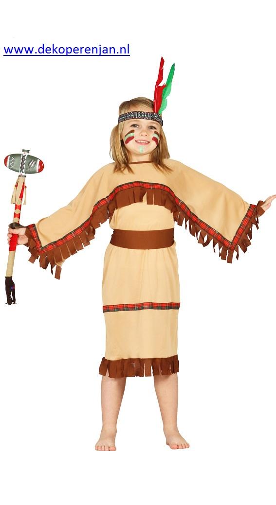Indian girl ( voor kinderen tussen van 5 á 6 jaar)