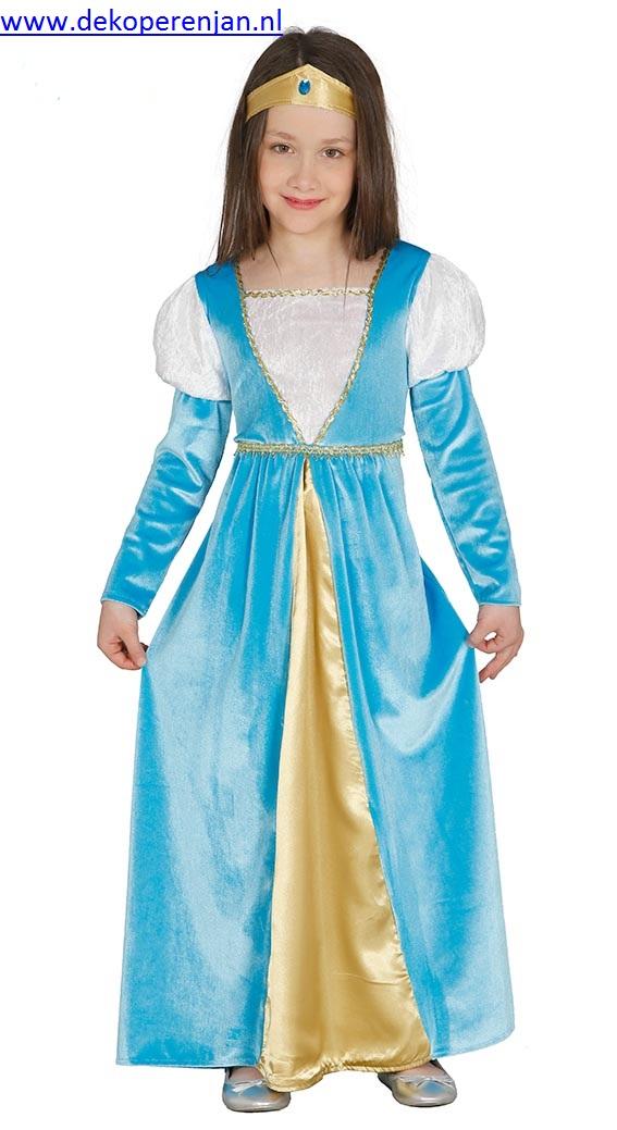 Blauwe prinses ( voor kinderen van 5 á 6 jaar)