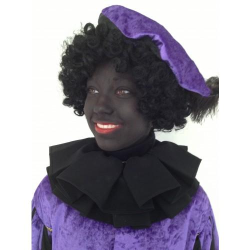 Zwarte Piet kraag zwart