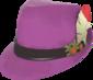 Tyrolean hoedje deluxe paars met veer