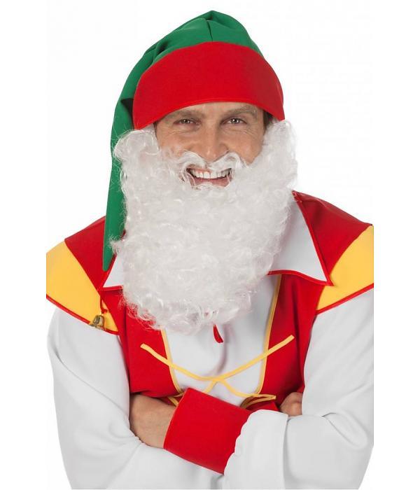 Maxi baard wit (kabouter/kerstman)