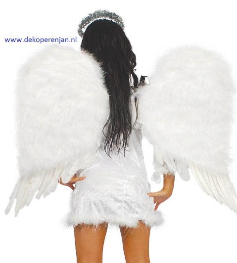 Engelen vleugels wit 70 cm