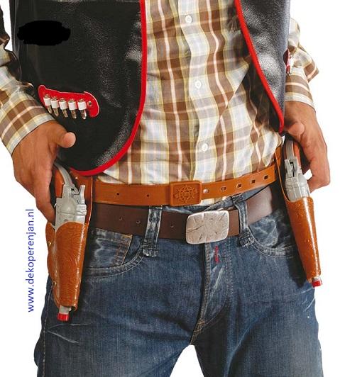 Cowboy holster 2 stuks
