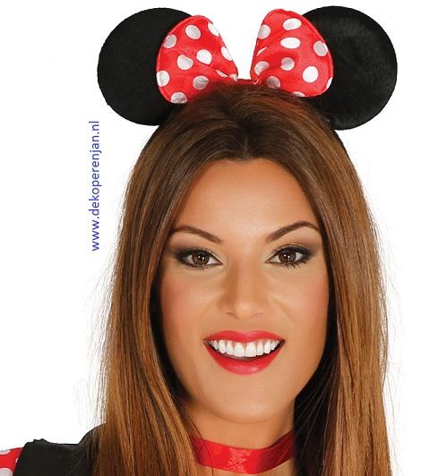 Minnie mouse oortjes met haarband