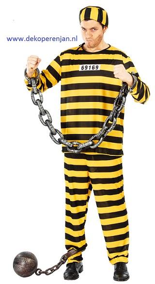 Gevangene pak geel maat L(52-54)