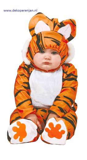 Tijger pak voor baby tussen de 12 en 24 maanden