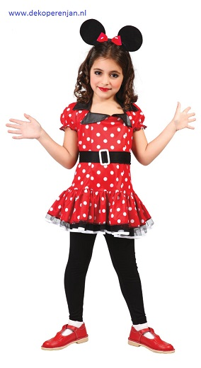 Minnie muis jurk (voor 5-6 jaar)