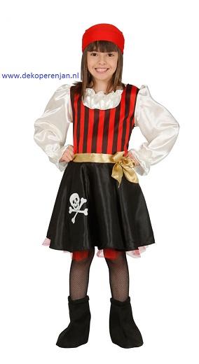Piraat pak meisje(voor kinderen tussen de 5-6 jaar)
