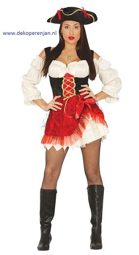 Sexy piraat vrouw maat L(42-44)