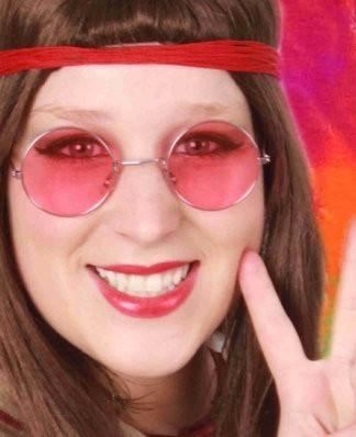 Lennon bril met roos glas