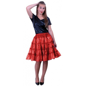 Rode glans petticoat maat 38