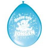 Hoera een jongen ballonnen 8stuks