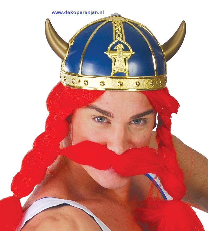 Viking helm blauw