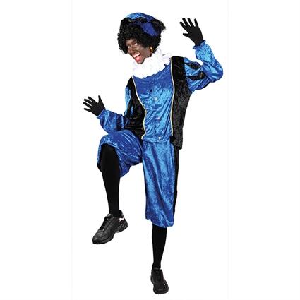 Piet velours blauw/zwart maat XXL
