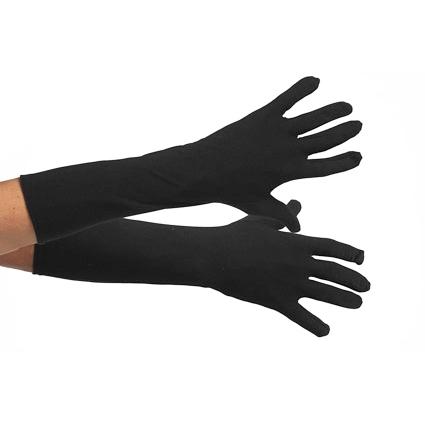 Zwarte piet handschoenen met elastiek maat L