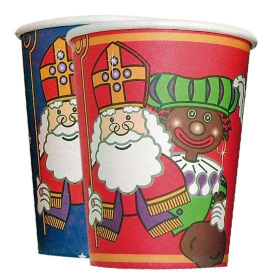 Sint & Piet bekers 8 per pak