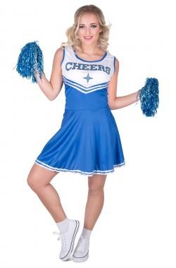 Cheer leader blauw L