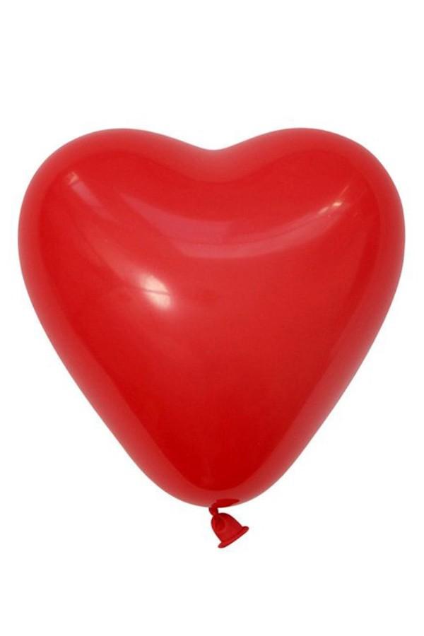 Themaballon rode hartjes per 6 32cm/11inch