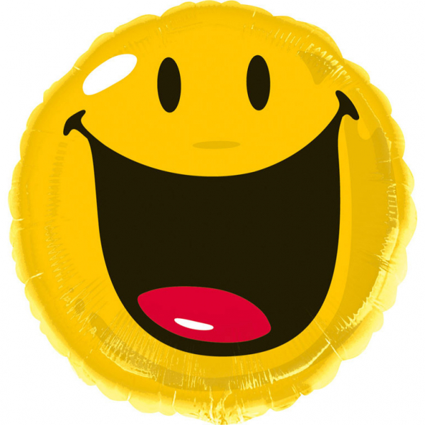 Smiley foli ballon 43cm