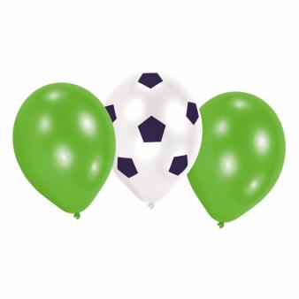 Ballonnen voor voetbal feestje per 6 verpakt