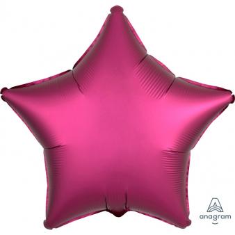 Foli ster ballon magenta 43 cm